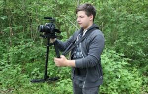 Der Kameramann beim Dreh in Eberdingen-Hochdorf